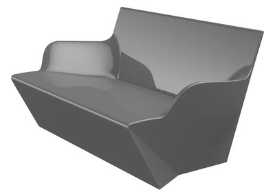 Image of Sofà Kami Yon - versione laccata di Slide - Laccato grigio - Materiale plastico