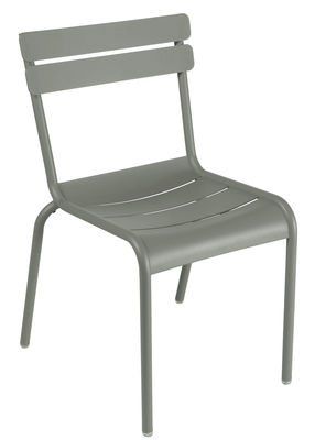 Furniture - Chairs - Luxembourg Stacking chair - Metal by Fermob - Rosemary - Lacquered aluminium