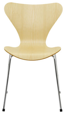 Möbel - Stühle  - Série 7 Stapelbarer Stuhl Holz natur - Fritz Hansen - Esche - Contreplaqué de frêne verni, Stahl