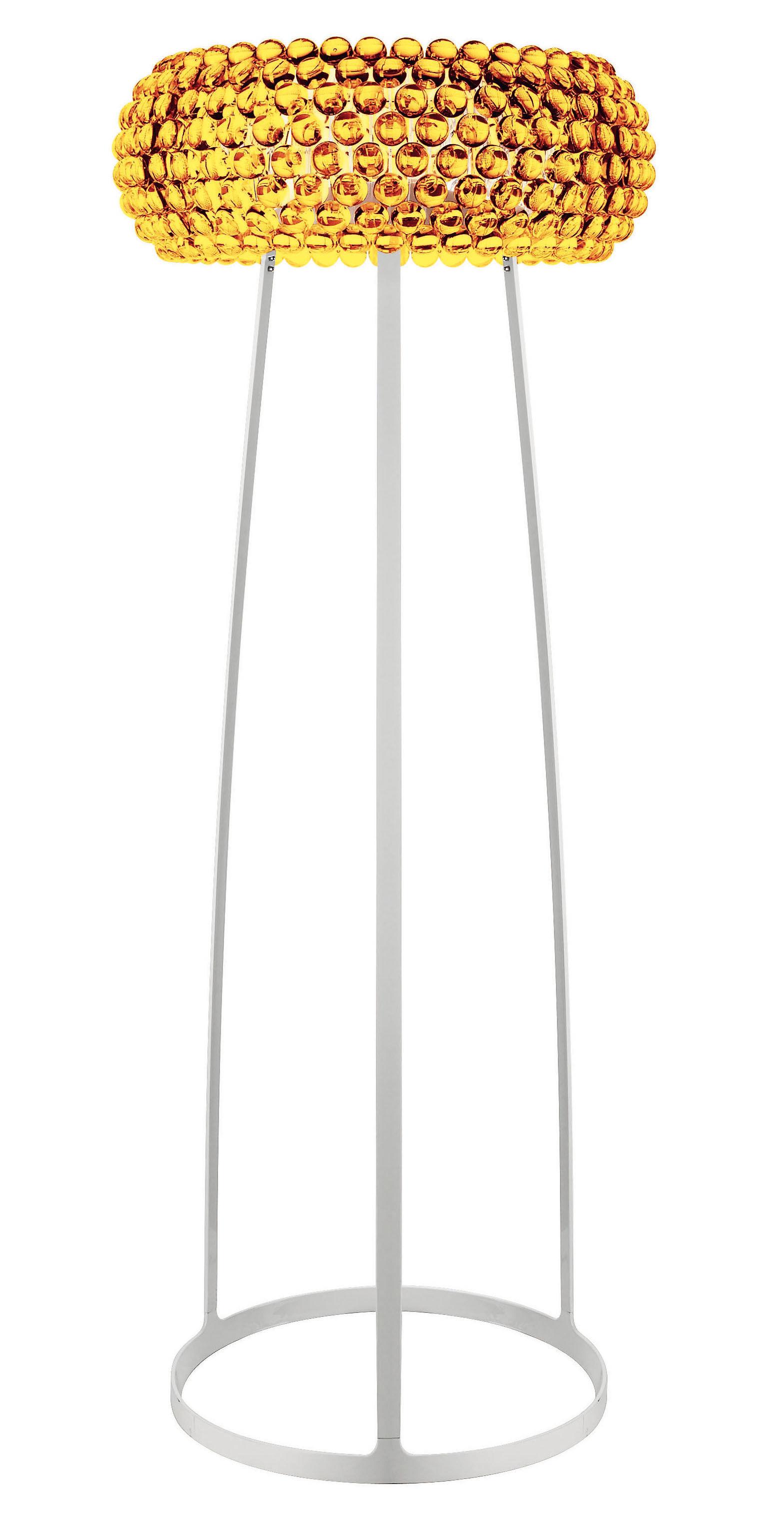 Leuchten - Stehleuchten - Caboche Grande Stehleuchte Groß - Foscarini - Bernstein - H 178 cm - Metall, PMMA