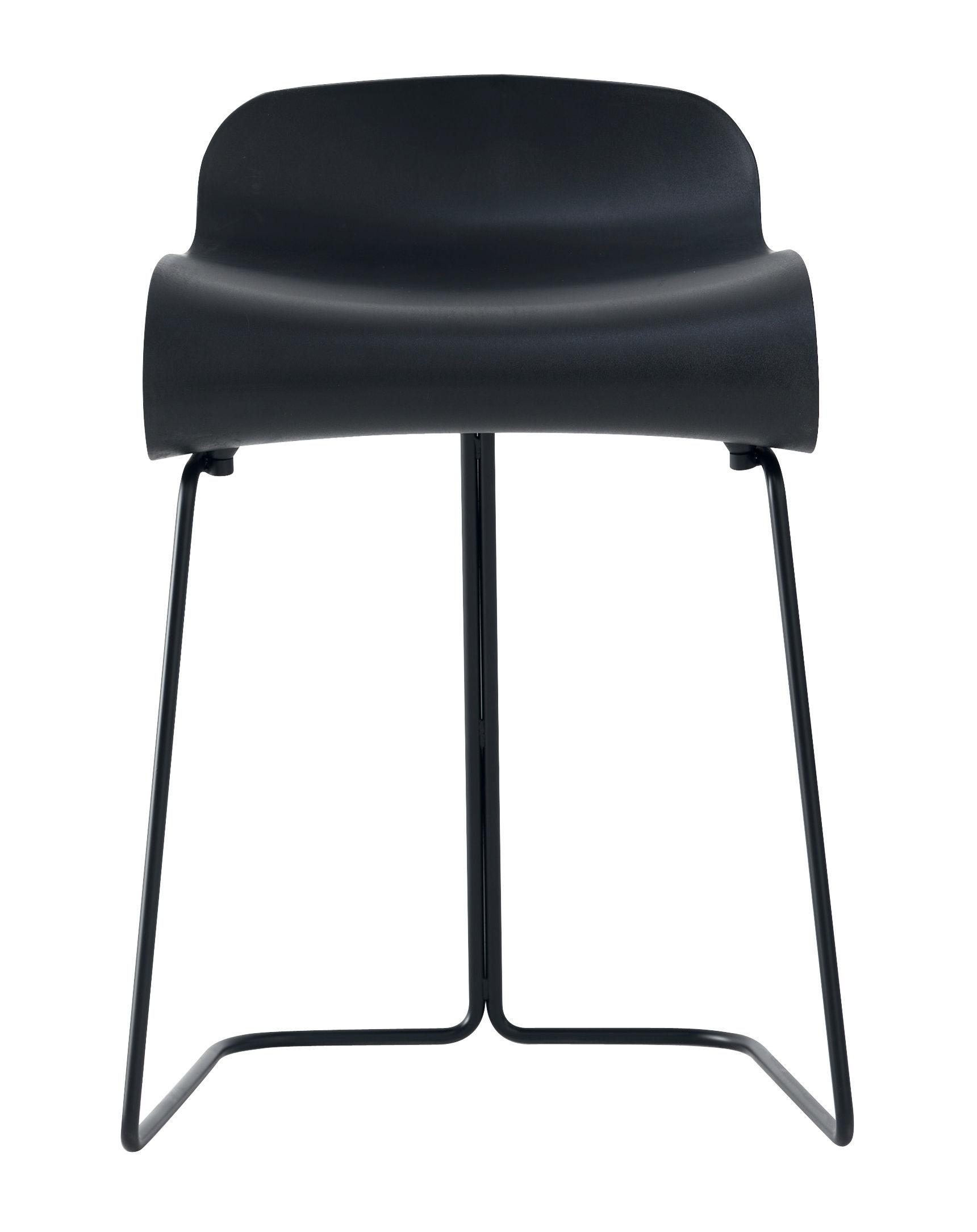 Furniture - Stools - BCN Stool by Kristalia - Black - PBT plastic, Varnished steel