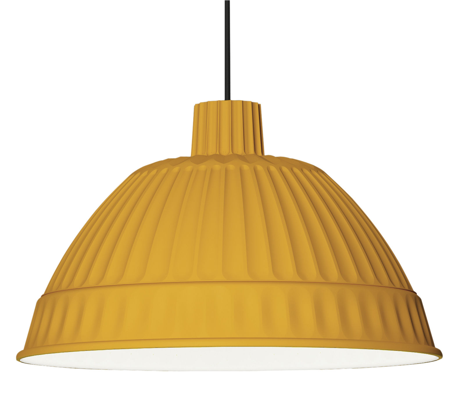 Luminaire - Suspensions - Suspension Cloche - Fontana Arte - Jaune miel - Polymère