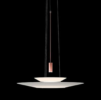 Suspension Flamingo LED / Ø 70 cm - Vibia blanc,cuivre en matière plastique