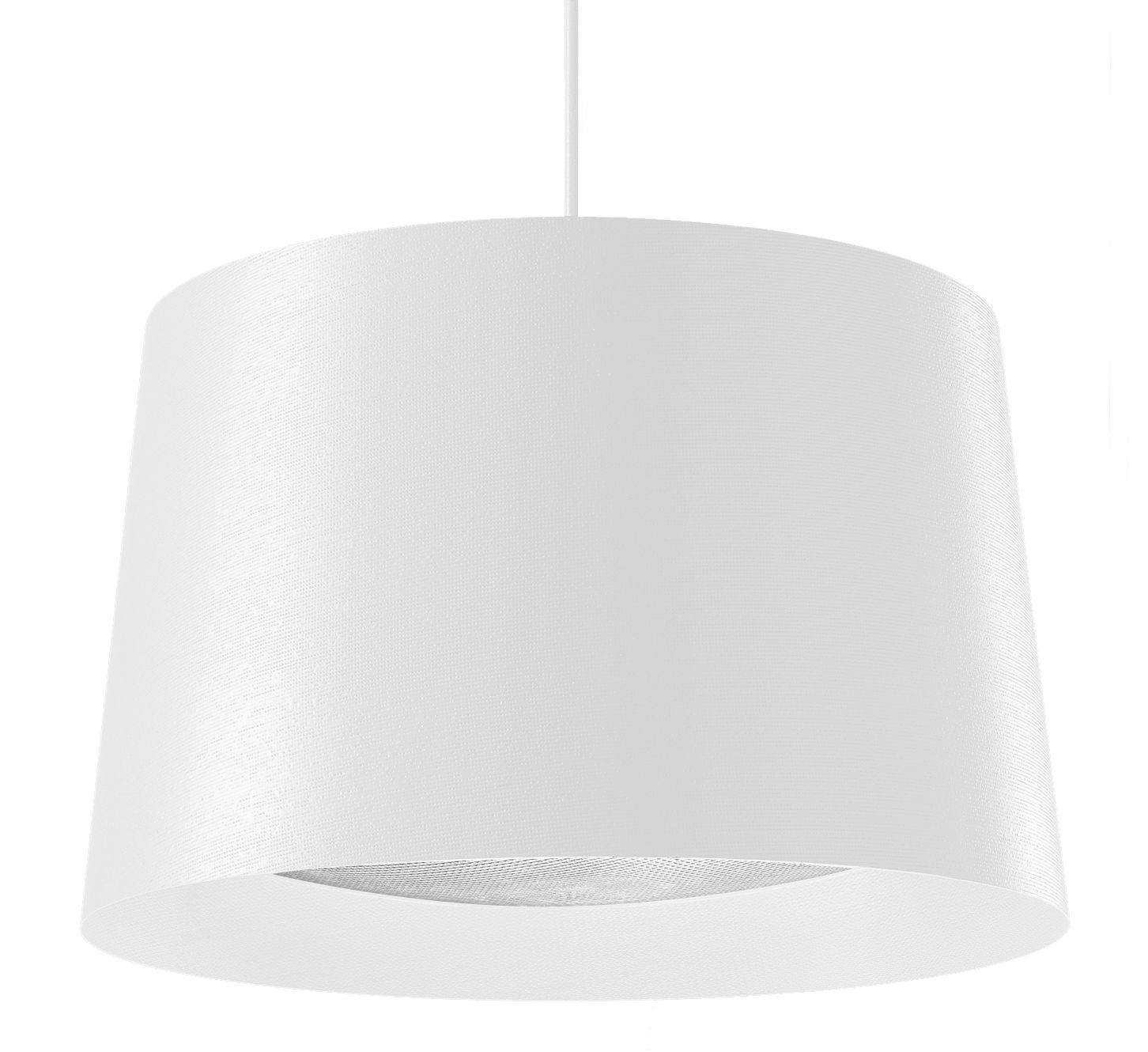 Luminaire - Suspensions - Suspension Twiggy Large / Ø 46 x H 29 cm - Foscarini - Blanc - Fibre de verre, Matériau composite