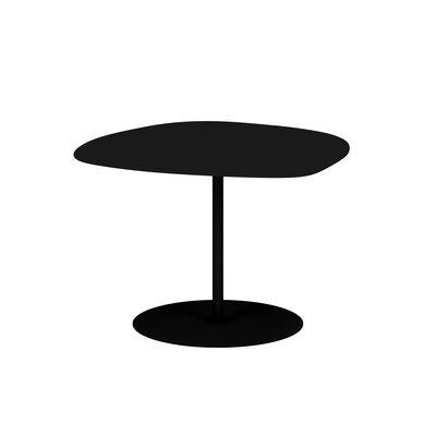 Table basse Galet n°3 OUTDOOR / 57 x 64 x H 37 cm - Matière Grise noir en métal