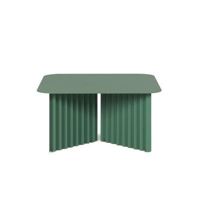 Table basse Plec Medium / Acier - 70 x 70 x H 35 cm - RS BARCELONA vert en métal