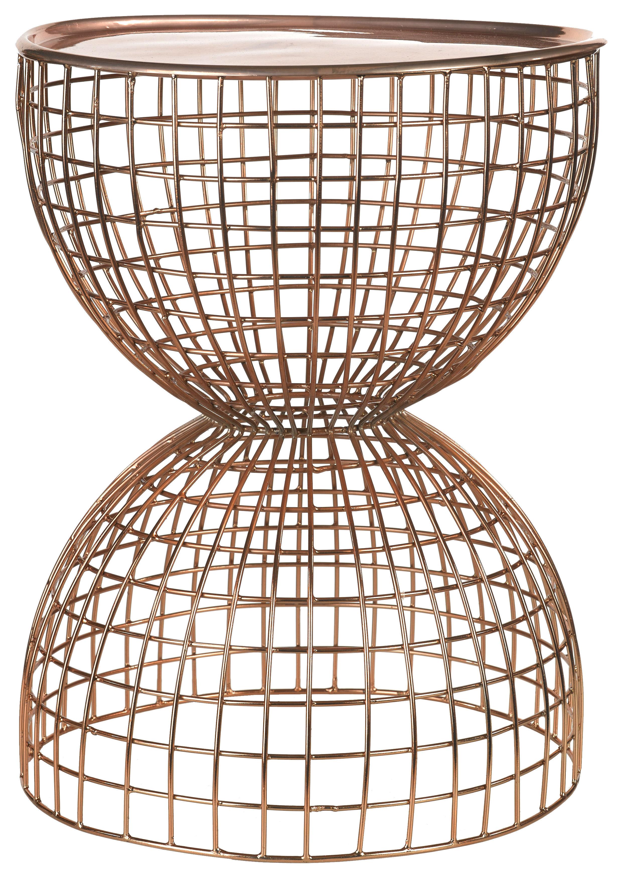 Mobilier - Tables basses - Table d'appoint Diabola Wire / Plateau amovible -  Ø 38 x H 45,5 cm - Pols Potten - Cuivre - Fer peint, Fil de fer peint