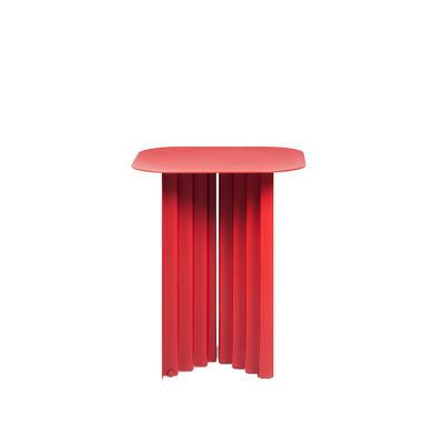 Table d'appoint Plec Small / Acier - 37 x 37 x H 45 cm - RS BARCELONA rouge en métal
