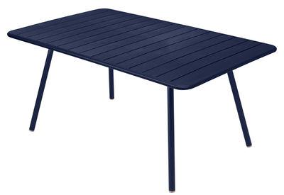 Table Luxembourg / 6 à 8 personnes - 165 x 100 cm - Fermob bleu abysse en métal