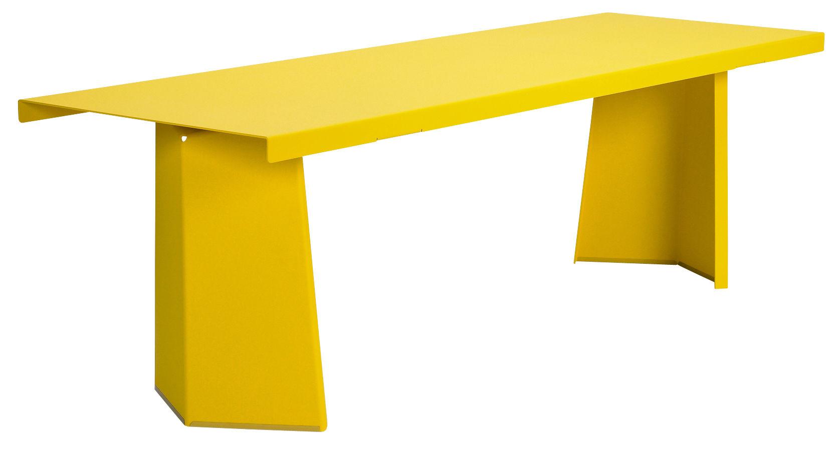 Table rectangulaire Pallas / 240 x 75 cm - Pour l'intérieur - ClassiCon jaune en métal