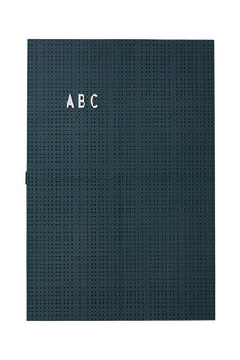 Tableau memo A3 / L 30 x H 42 cm - Design Letters vert foncé en matière plastique