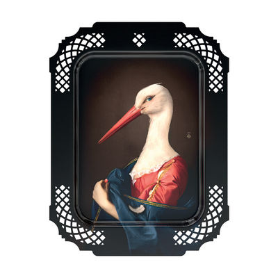 Tischkultur - Tabletts - Madame la Cigogne Tablett / Wandbild - L 34 x H 45 cm - Ibride - H 45 cm / Frau Störchin - HPL-Laminat