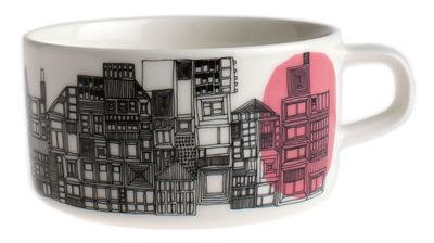 Tasse à thé Siirtolapuutarha - Marimekko blanc,rose,noir en céramique
