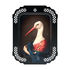 Madame la Cigogne Tray - / Wall picture - L 34 x H 45 cm by Ibride