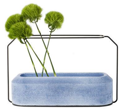 Vase Weight A / L 37 x H 22 cm - Spécimen Editions bleu en métal
