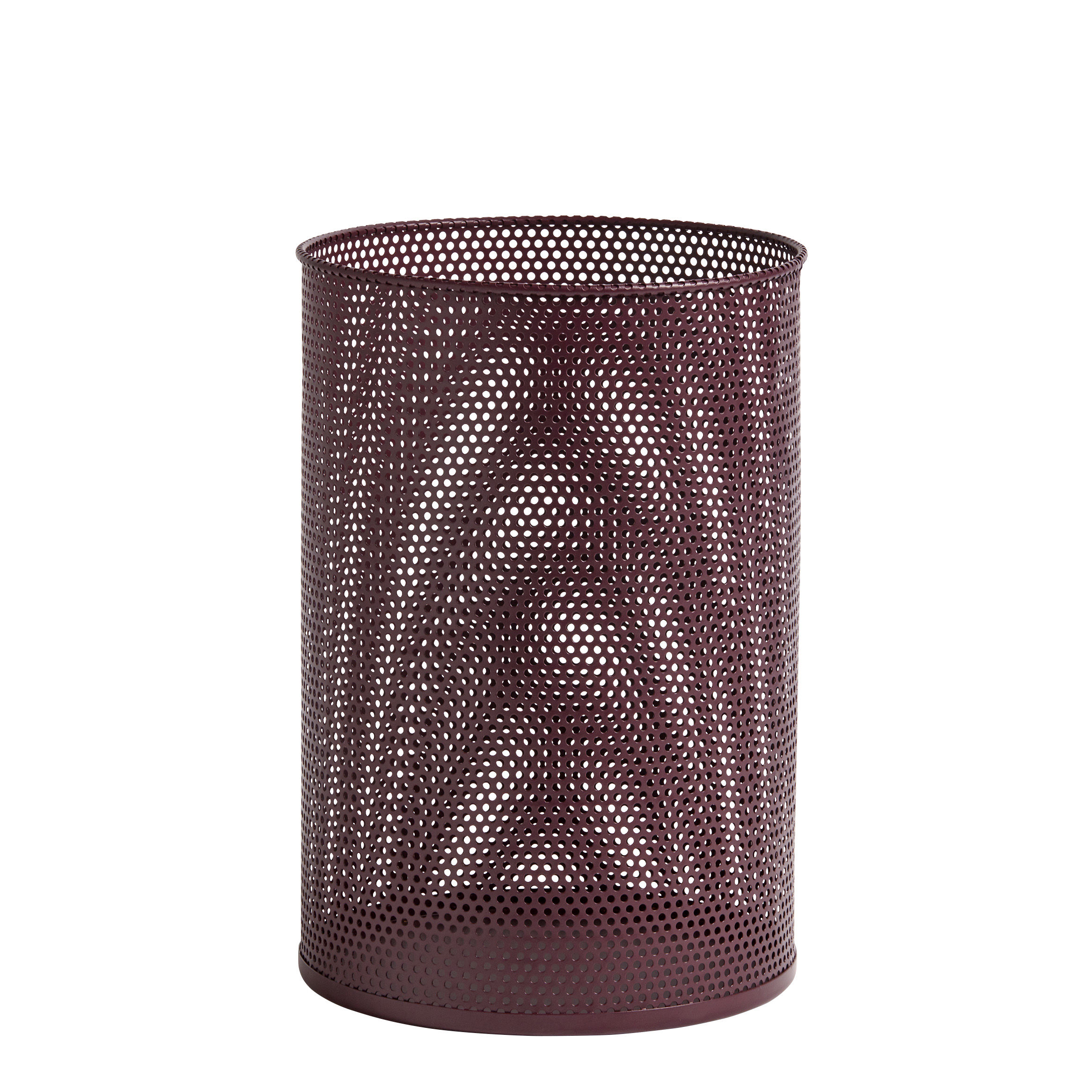 Accessories - Desk & Office Accessories - Perforated Wastepaper basket - / Perforated metal by Hay - Red - Fer perforé