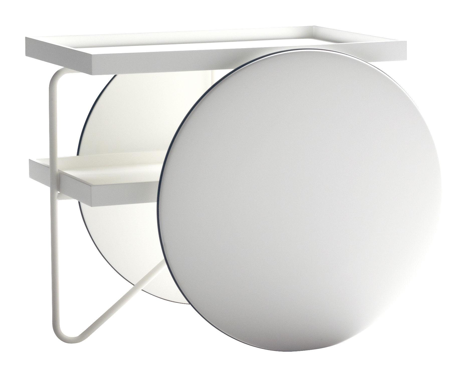 Möbel - Beistell-Möbel - Chariot Ablage - Casamania - Weiß - lackierte Holzfaserplatte