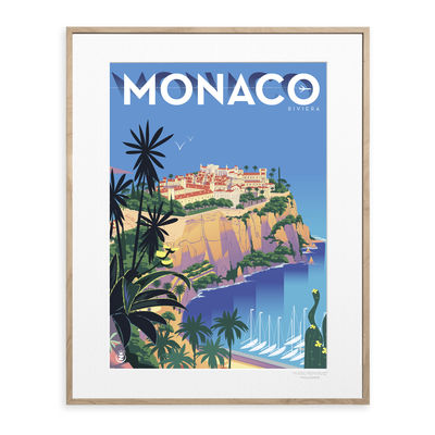 Déco - Stickers, papiers peints & posters - Affiche Monsieur Z - Monaco / 40 x 50 cm - Image Republic - Monaco - Papier mat