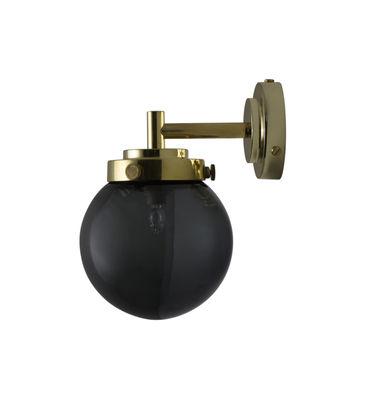 Applique Mini Globe / Ø 12 cm - Verre soufflé - Original BTC anthracite,laiton en métal
