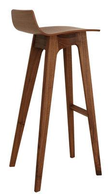 Furniture - Bar Stools - Morph Bar stool - Wood - H 80 cm by Zeitraum - Walnut - Solid walnut