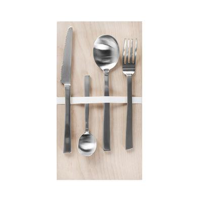 Tischkultur - Besteck - by Maarten Baas Besteckgarnitur / 16 Besteckteile (4 Personen) - valerie objects - Stahl gebürstet - rostfreier Stahl