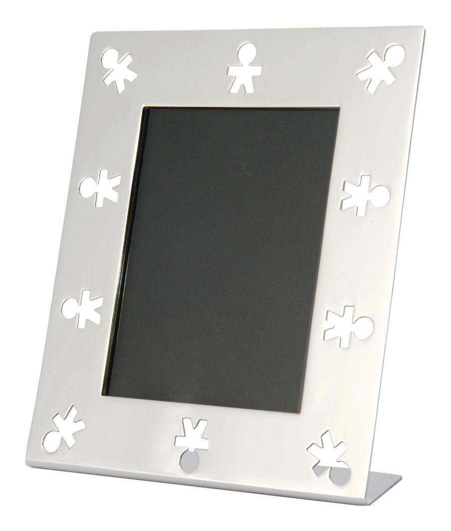 Accessoires - Fotorahmen - Mini Girotondo Bilderrahmen - A di Alessi - Edelstahl glänzend - polierter rostfreier Stahl