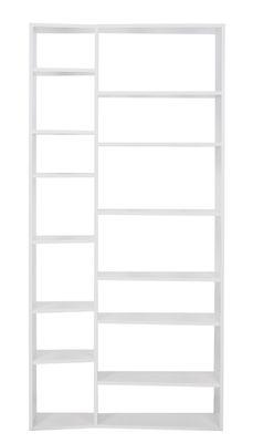 Möbel - Regale und Bücherregale - New York 001 Bücherregal / L 108 x H 224 cm - POP UP HOME - Weiß - Pressspan, bemalt