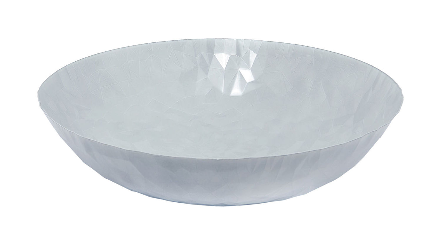 Tableware - Fruit Bowls & Centrepieces - Joy n.11 Centrepiece by Alessi - Milky White - Stainless steel epoxy coloration resin