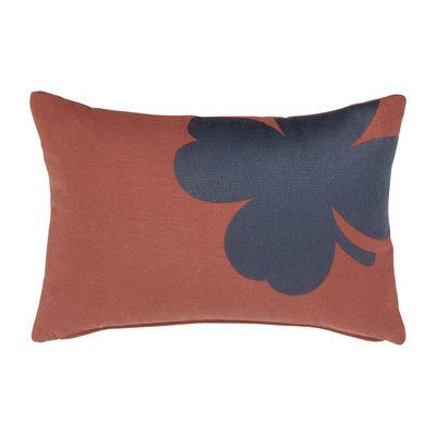 Coussin d'extérieur Trèfle / 44 x 30 cm - Fermob rouge en tissu