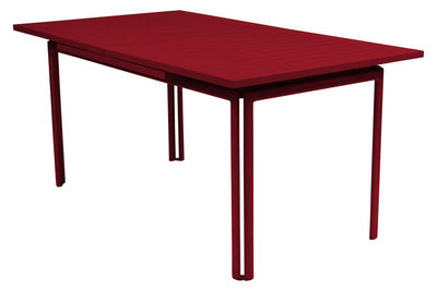 Outdoor - Garden Tables - Costa Extending table - With extension by Fermob - Chili - Lacquered aluminium