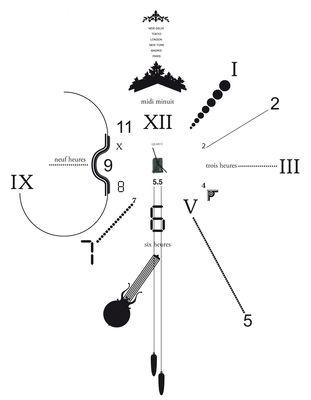 Déco - Tendance humour & décalage - Horloge murale Vynil Clock / Sticker - Domestic - Noir - Vinyle