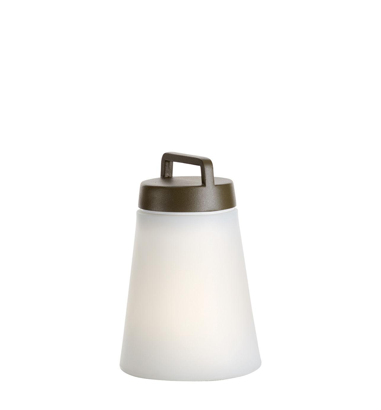 Illuminazione - Lampade da tavolo - Lampada senza fili Sasha Mini - / LED - H 24,5 cm di Carpyen - Vert Olive - alluminio verniciato, Polietilene