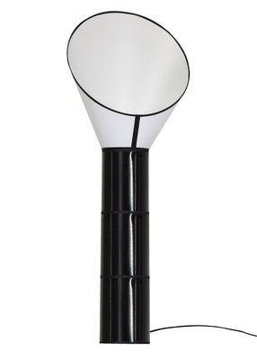 Lampadaire Grand Cargo H 187 cm / 3 cylindres - Designheure blanc,noir en tissu