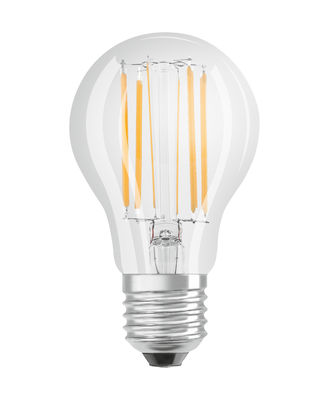 Image of Ampoule LED E27 dimmable / Standard claire - 8,5W=75W (2700K, blanc chaud) - Osram - Trasparente - Vetro