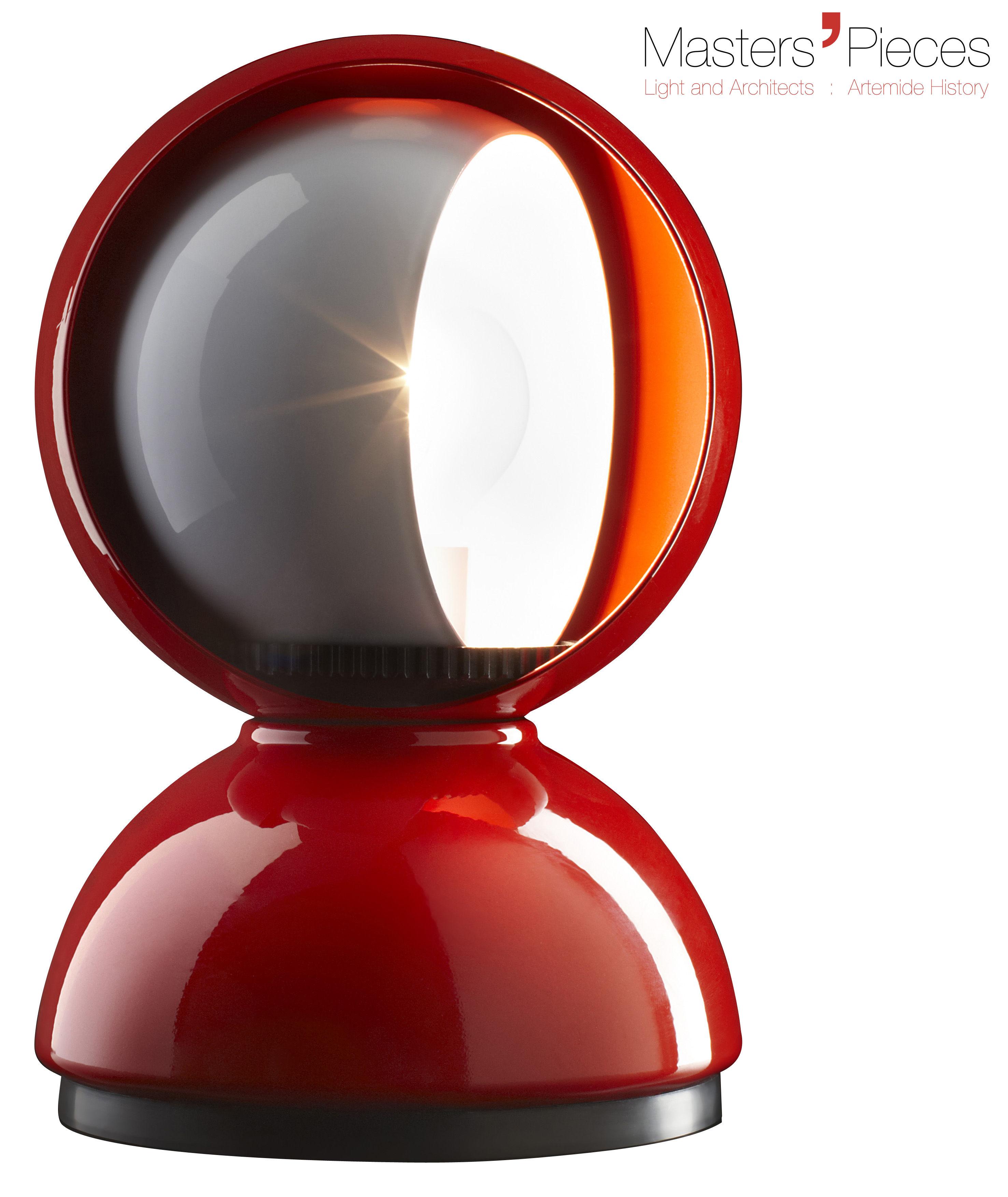 Luminaire - Lampes de table - Lampe de table Masters' Pieces - Eclisse / 1967 - Artemide - Rouge - Métal verni