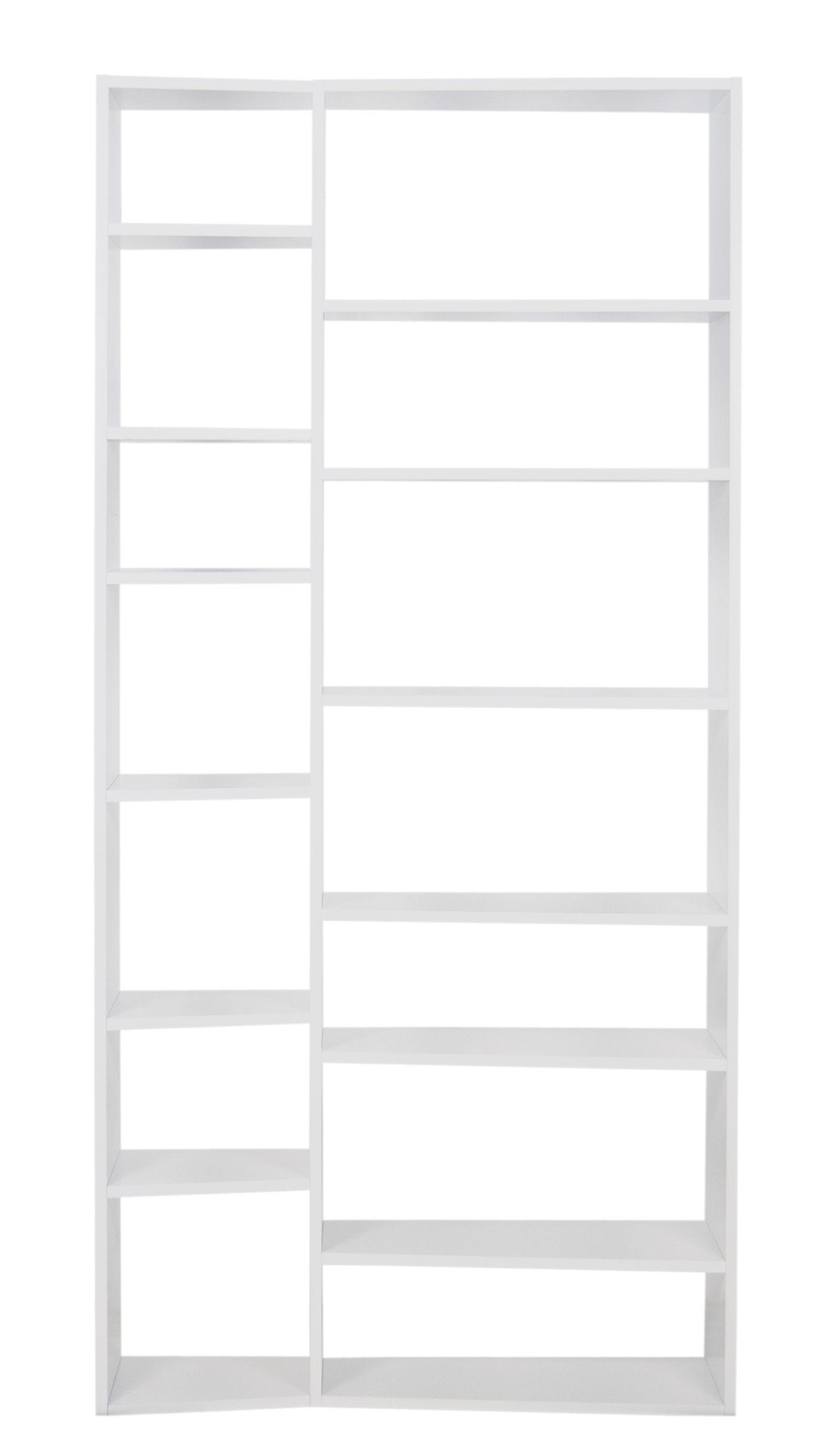 Arredamento - Scaffali e librerie - Libreria New York 001 / L 108 x H 224 cm - POP UP HOME - Bianco - Aggloméré peint