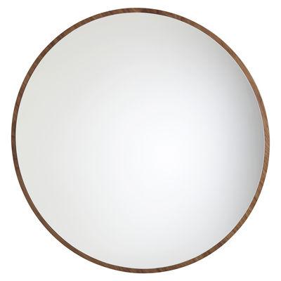 Déco - Miroirs - Miroir mural Bulle Large / Ø 120 cm - Noyer - Maison Sarah Lavoine - Noyer - Bois de noyer huilé, Verre