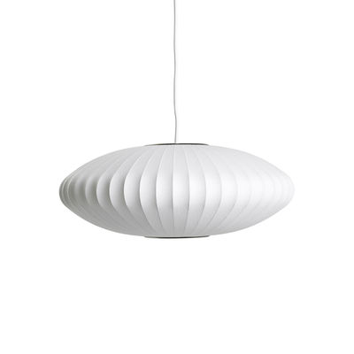 Lighting - Pendant Lighting - Bubble Saucer Pendant - / Small - Vertical patterns by Hay - Ø 44 cm / Off white - Steel