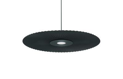 Lighting - Pendant Lighting - Carmen Pendant - / LED - Ø 50 cm – Pleated fabric by Hartô - Slate grey - Lacquered metal, Pleated fabric