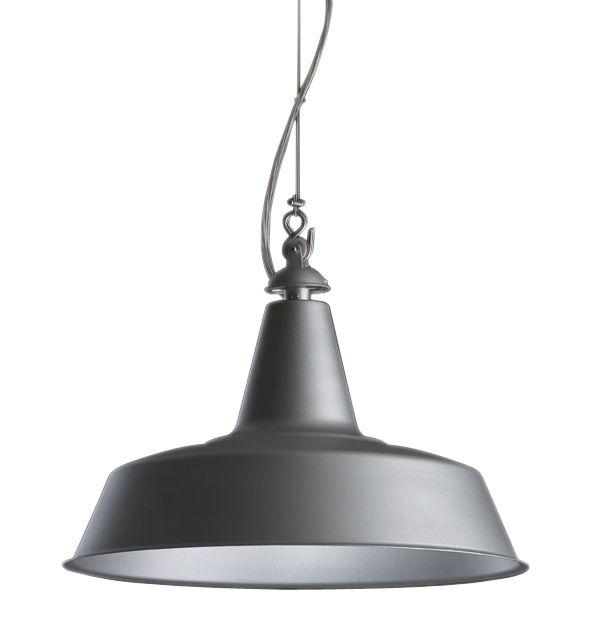 Lighting - Pendant Lighting - Huna Pendant by Fontana Arte - Matt Aluminium / White inside - Metal, Steel