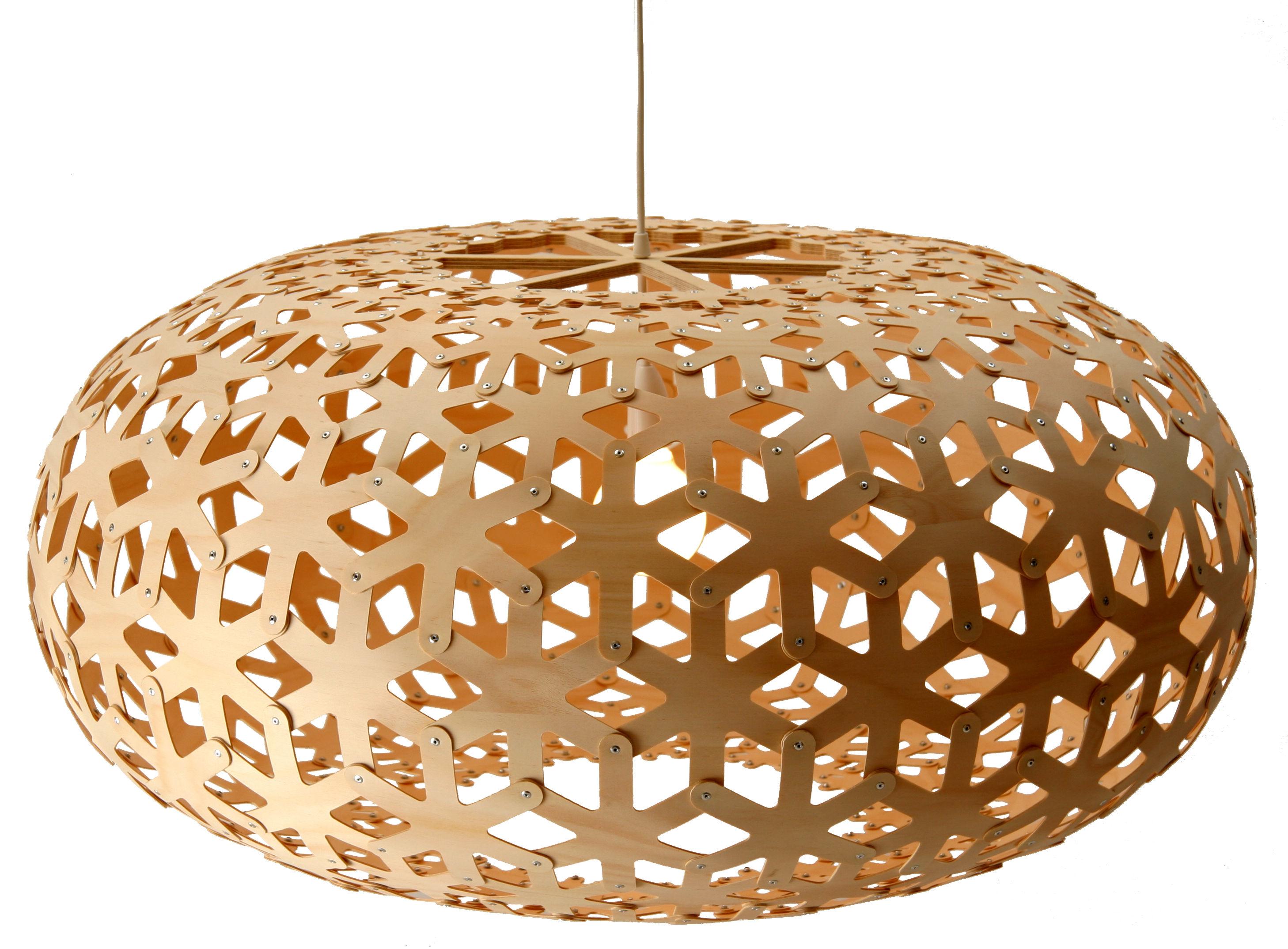 Lighting - Pendant Lighting - Snowflake Pendant by David Trubridge - Natural wood - Pine plywood
