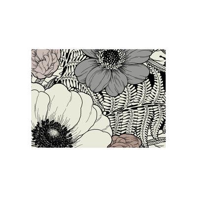 Tableware - Napkins & Tablecloths - Botany Placemat - / Vinyl by Beaumont - Grey, black & pale pink - Vinal