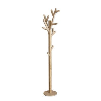 Mobilier - Portemanteaux, patères & portants - Portemanteau sur pied Ambroise / H 158 cm - Chêne - Hartô - Chêne naturel - Chêne massif