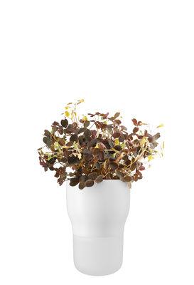 Déco - Pots et plantes - Pot à réserve d'eau / Small - Ø 9  x H 13 cm - Eva Solo - Blanc craie - Céramique, Verre dépoli soufflé bouche