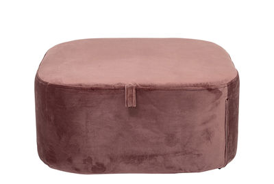 Furniture - Kids Furniture - Pouf - / Velour - 55 x 55 cm by Bloomingville - Pink - Contrepalqué, Polyurethane foam, Velvet