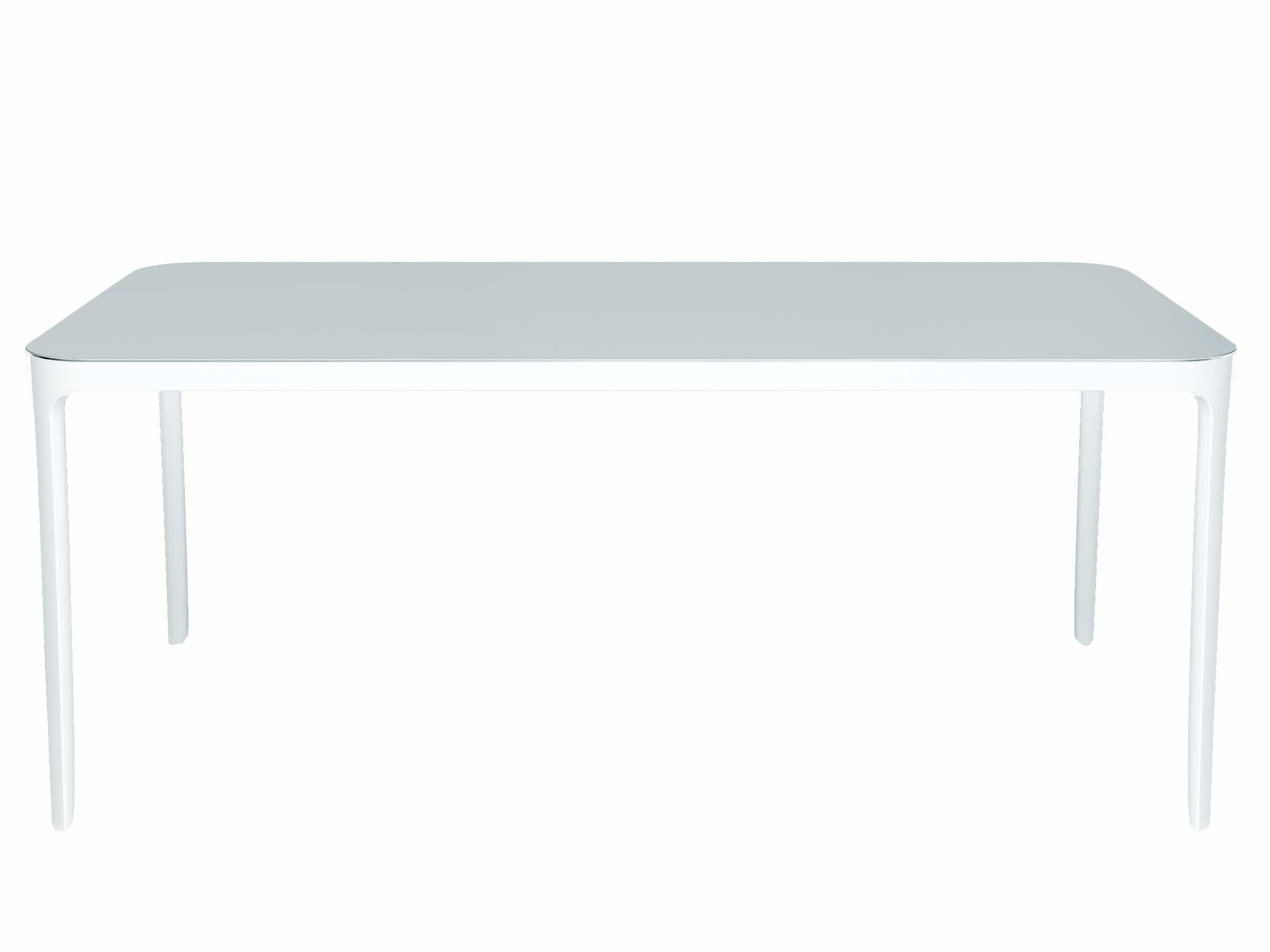 Möbel - Tische - Vanity rechteckiger Tisch Rechteckig – 140 x 80 cm - Magis - 140 x 80 cm - weiß - klarlackbeschichtetes Aluminium, klarlackbeschichtetes Glas
