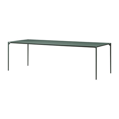Outdoor - Garden Tables - Novo Rectangular table - / 240 x 90 cm - Metal by AYTM - Forest green - Powder-coated steel