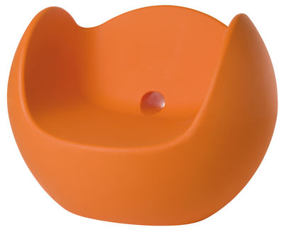 Rocking chair Blos - Slide orange en matière plastique