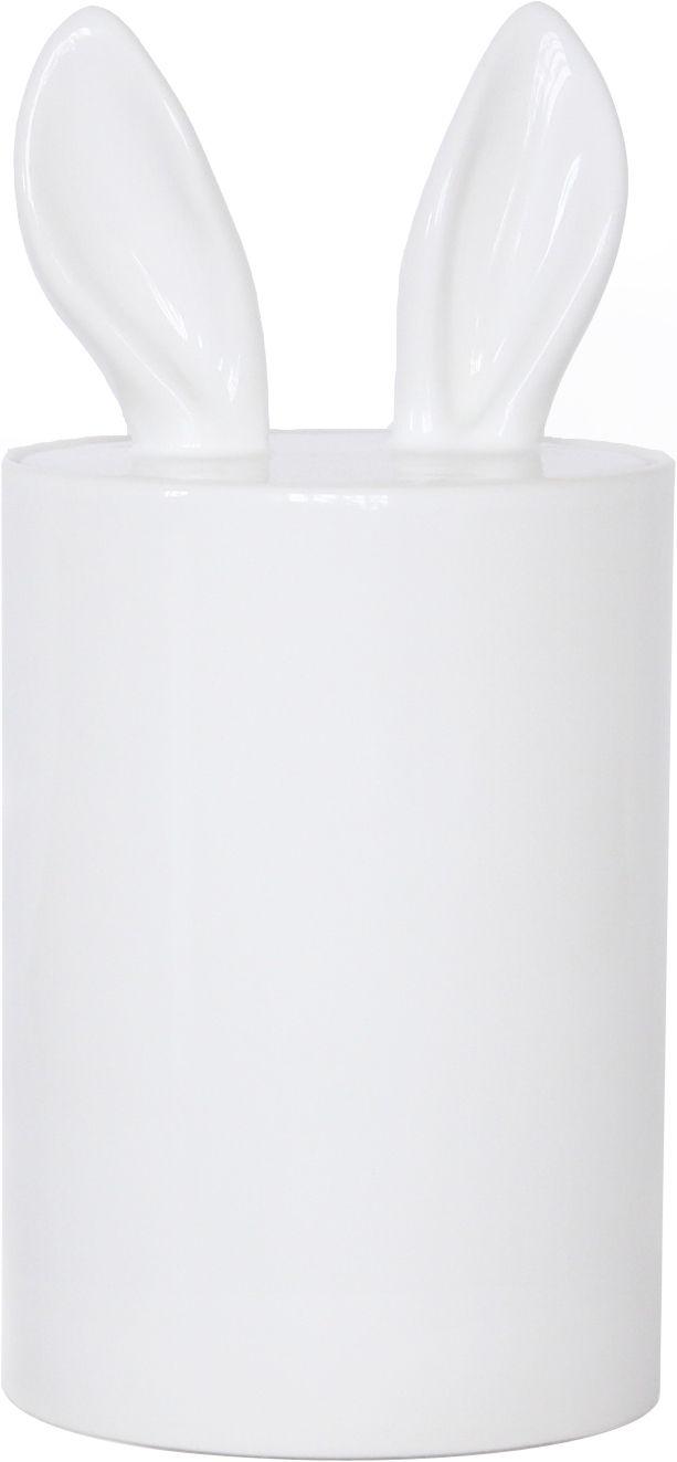 Accessori moda - Accessori bagno - Scatola Curiosity - H 23 cm di Petite Friture - Bianco - Ceramica