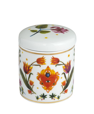Decoration - Candles & Candle Holders - Cuore Occhio Scented candle - / Porcelain by Bitossi Home - Eye-heart / Multicoloured - China, Wax